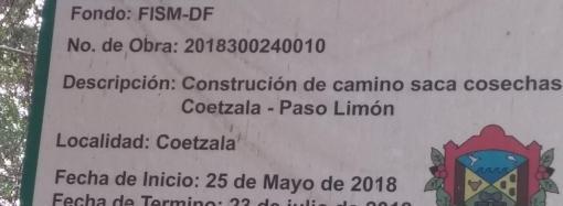 Alcalde Priista de Tlaltetela se fue Cabezón  En la obra Coetzala-Paso Limón