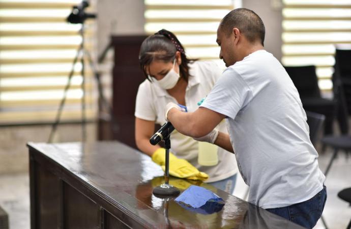 Implementan medidas sanitarias en entrevistas para titular del IVAI