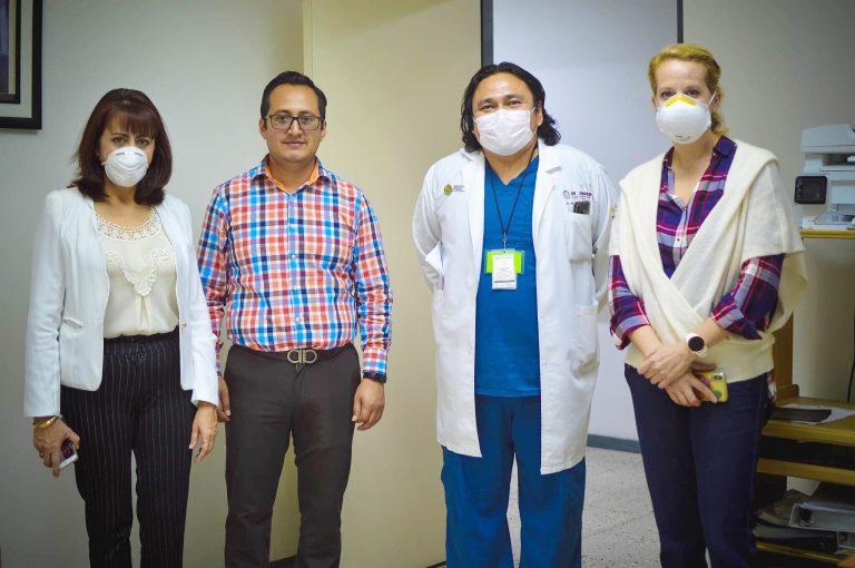 Ayuntamiento peroteño donó material al hospital