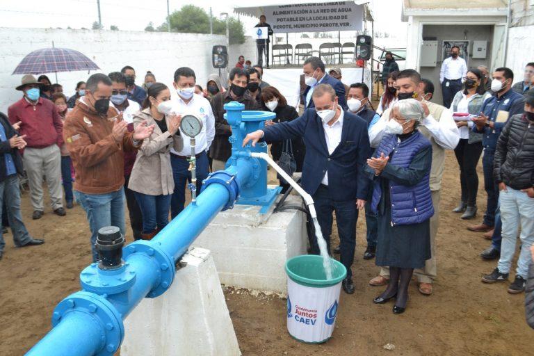 CAEV solventará 80% del suministro de agua potable de Perote, con nuevo sistema hidráulico