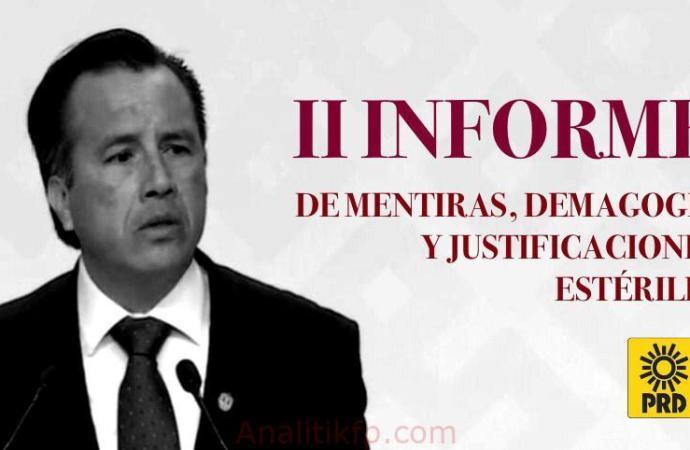 Segundo Informe de Cuitláhuac García, discurso pobre, plagado de culpas, rabietas y estériles justificaciones: Sergio Cadena