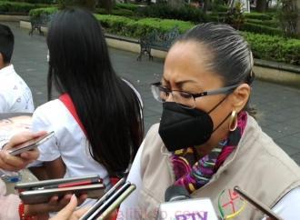 Namiko Matzumoto salió a manifestarse en apoyo a desaparecidos
