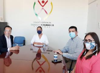 Visita gobernador Cuitláhuac García instalaciones de CEDH