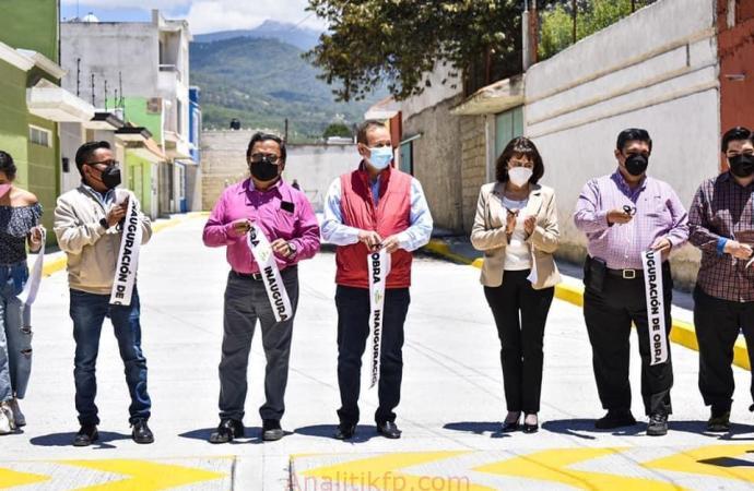ENTREGA DE OBRA EN LA CALLE VIOLETAS Y PRIVADA DE SANTA MARGARITA