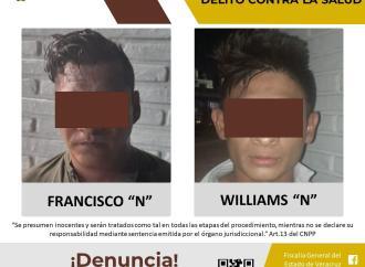 Los imputan por ultrajes a la autoridad, daños y delito contra la salud en Tuxpan