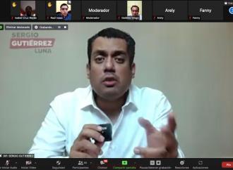 En Zoom con morenistas de Veracruz, Sergio Gutiérrez Luna presenta proyectos de la 4T