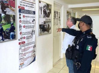 Supervisa Gutiérrez Maldonado instalaciones policiales en Ciudad Mendoza