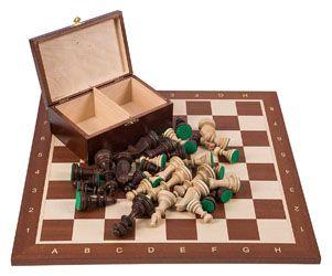 Comprar tablero ajedrez madera caoba Square Staunton 6