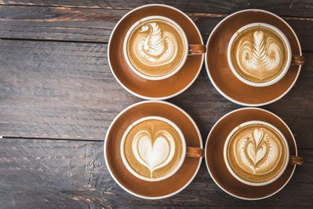 Cafe capuchino y arte latte