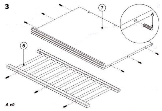 prepara la base y barrera de la cuna colecho