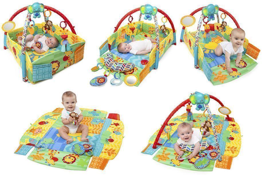 gimnasio bebe bright starts sunny safari area de juego