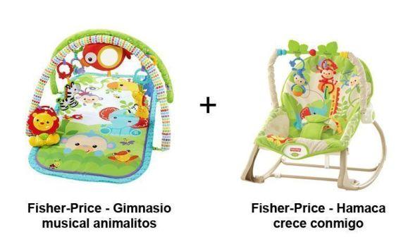 pack gimnasio bebe fisher price animalitos