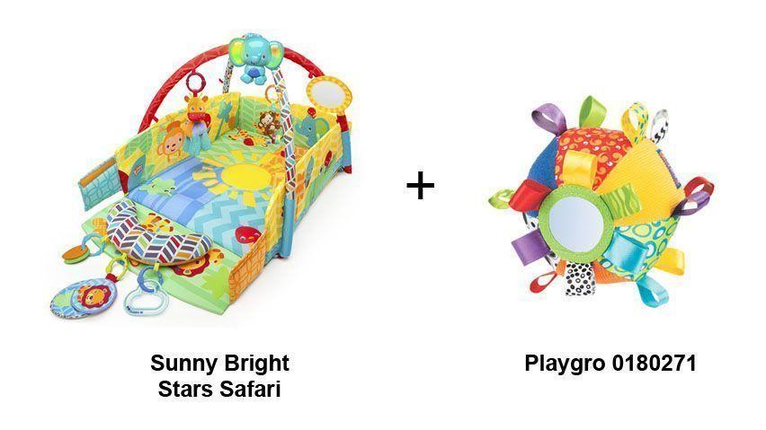 pack gimnasio bebe bright stars sunny safari