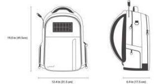 Mochilas antirrobo - Lifepack medidas