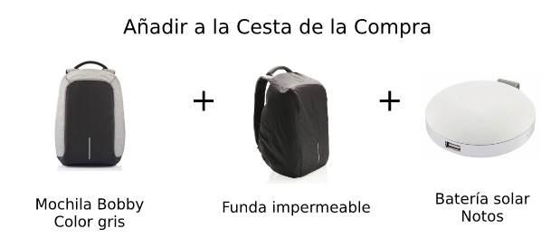 Paquete bobby mochila, funda y bateria externa