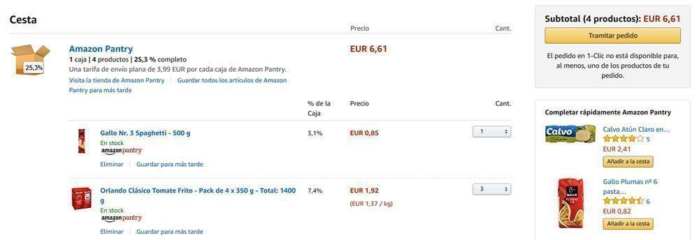 Amazon pantry alimentacion