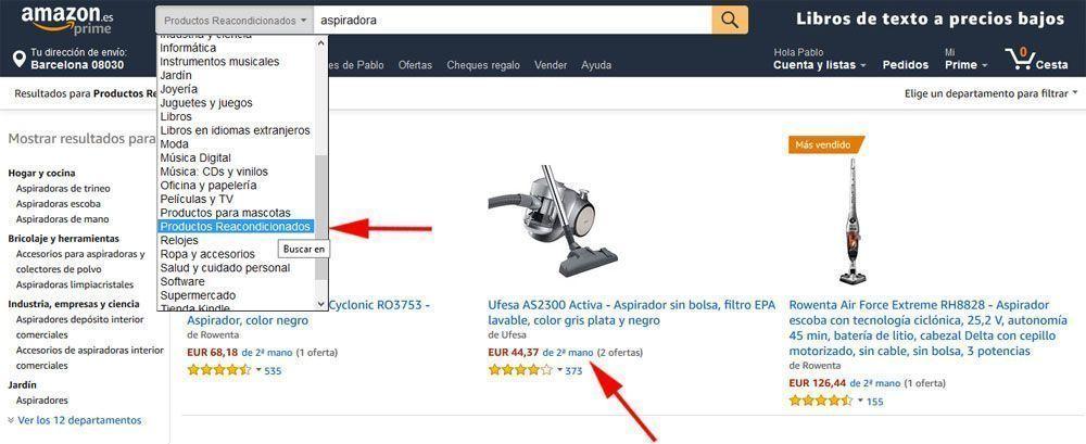 Productos reacondicionados de Amazon