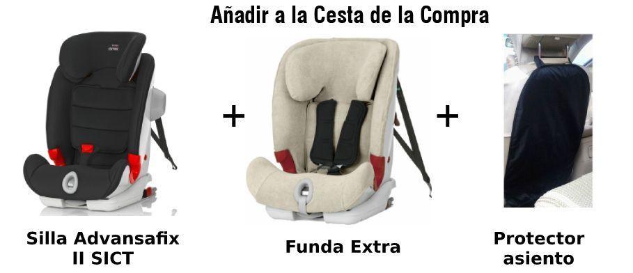 paquete advansafix II funda extra y protector asiento
