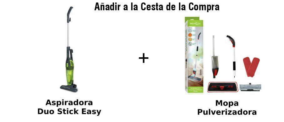 paquete duo stick easy aspiradora y mopa