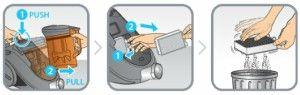 limpieza filtro aspirador rowenta compact power