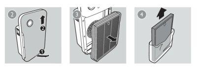 montaje filtros purificador de aire philips
