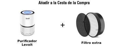 paquete purificador levoit y filtro extra