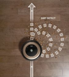 dirt detect sensor roomba