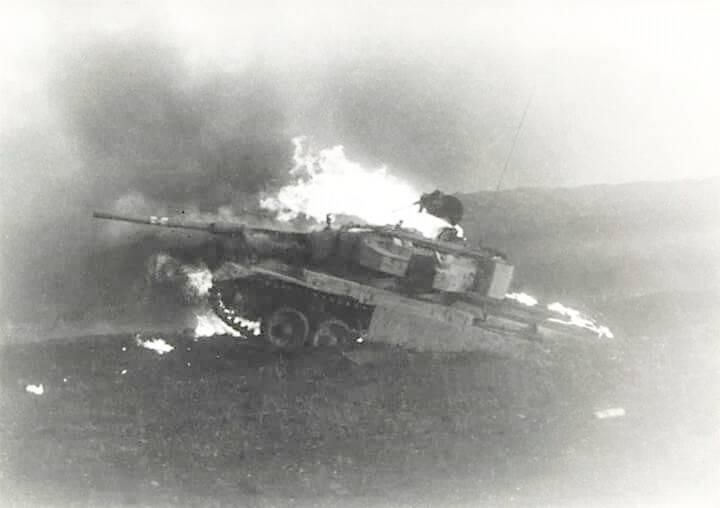 Tanques sin apoyo de infantería. Un caso de la Guerra de Yom Kippur
