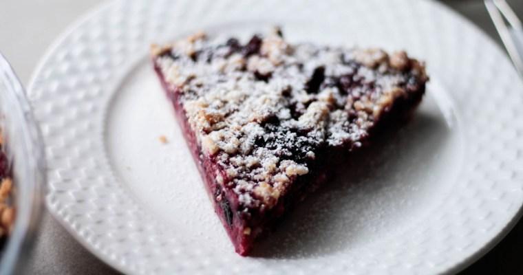 Ciasto kruszonkowe z owocami