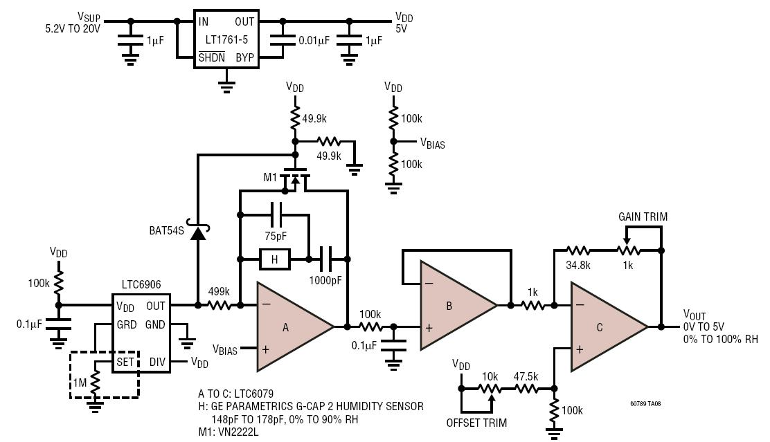 Relative Humidity Sensor Circuit Collection