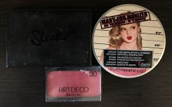 Sleek duo in Medium, Marry LouManizer pe post de iluminator și blush de la Artdeco