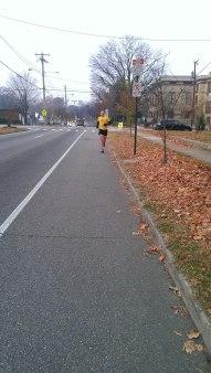 Running along Forest Hill