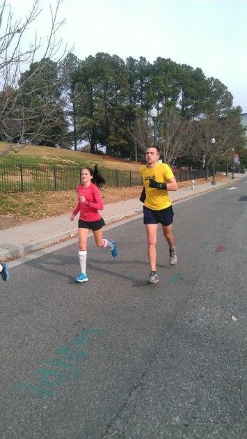 Running on 5th St. toward Tredegar