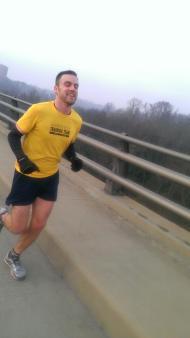 Running on Lee Bridge