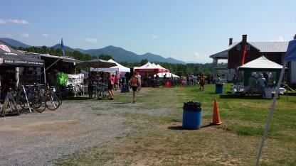 Vendors at the campsite