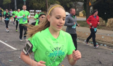 Running Shamrock for Cameron Gallagher