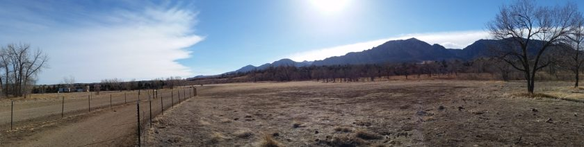 Beginning of bear creek ditch trail