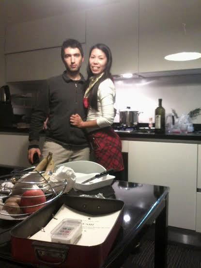 My husband and I messing up in the kitchen lol
