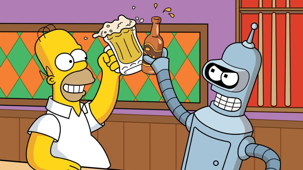 simpsons_wallpaper_the-simpsons-wallpaper-futurama-homer-bender-beer-bar-1