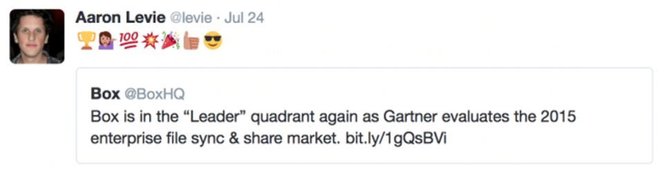IIAR Blog: Box leader in the Magic Quadrant re-tweeted by Aaron Levie
