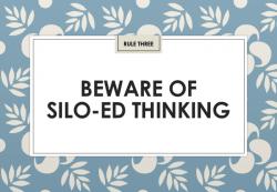 Jon Collins: Beware of silo-ed thinking (IIAR website)