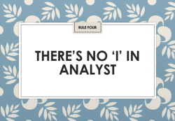"Jon Collins: There's no ""I"" in analyst (IIAR website)"