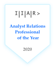 Analyst Relations professional of the year award