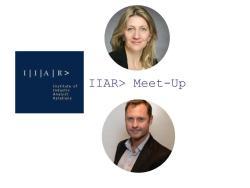 IIAR> UK Chapter Hero image with Anja Steinmann and Tim O'Sullivan
