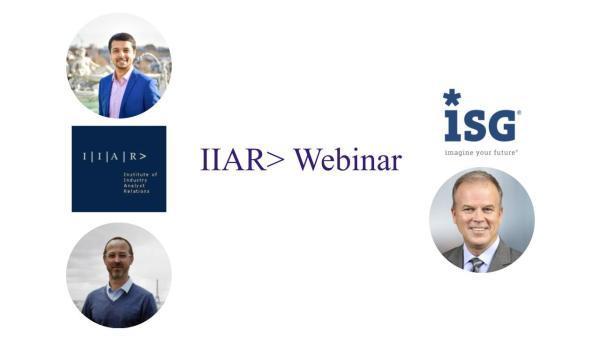 IIAR Webinar with Jan Erik Aase / ISG hosted by Avinash Murthy and Ludovic Leforestier