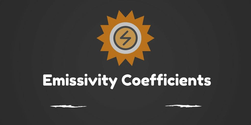 Emissivity Coefficients of some common Materials
