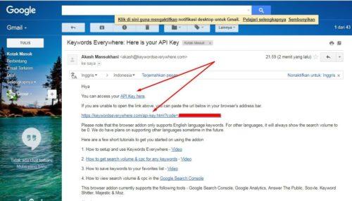4 Keyword Everywhere - Keyword Tool Link API Key
