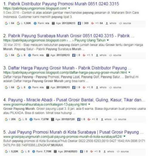 Melihat Jumlah Indeks, Like FB, Vote Google Plus dan Umur Website dg SEOquake