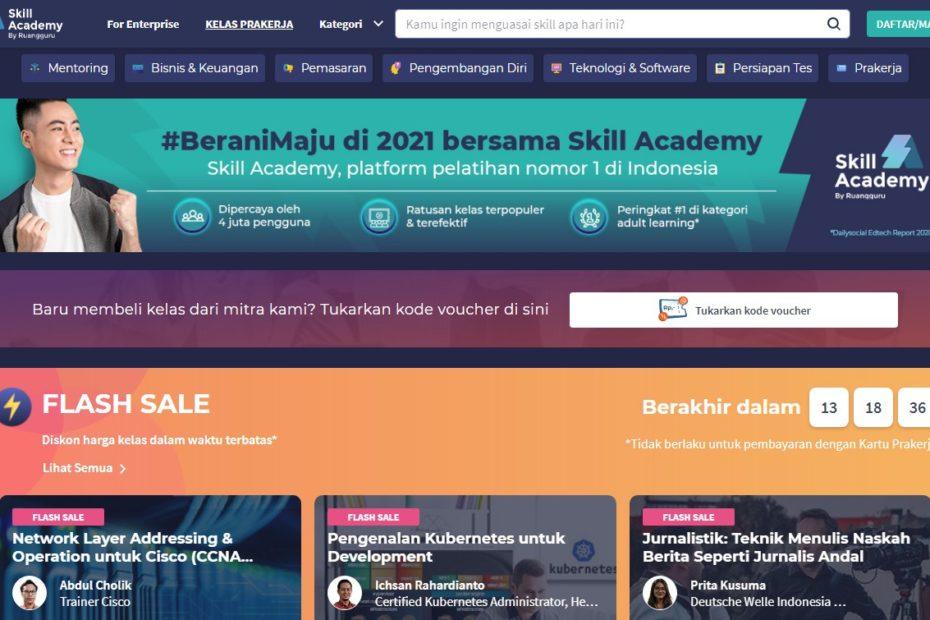 Cara Daftar di Skill Academy