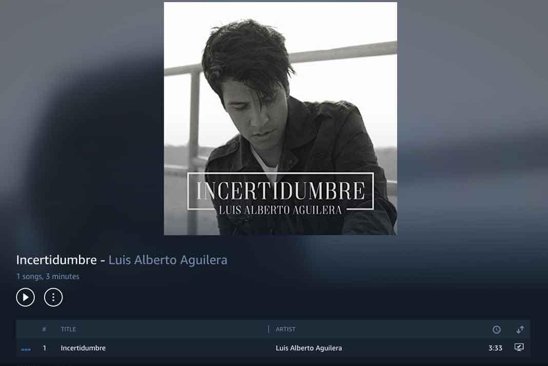 El primer sencillo de Luis Alberto Aguilera se llama